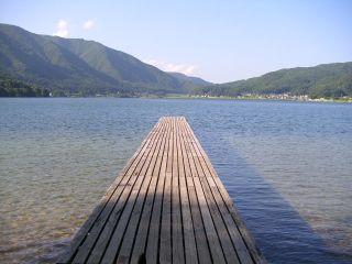 木崎湖キャンプ場 桟橋