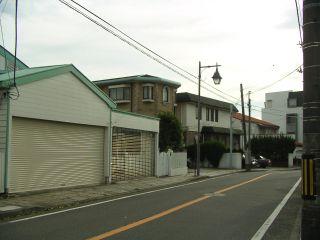 久遠寺邸近くの道